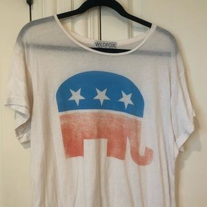 Wildfox Party Animal Republican Tee